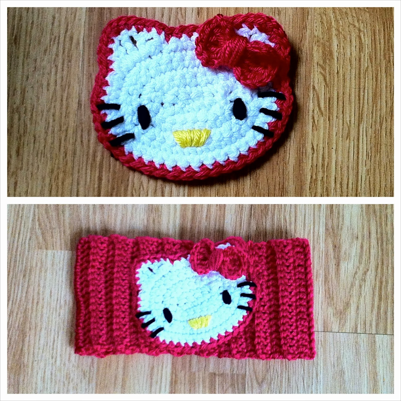Free Crochet Pattern For A Hello Kitty Hat : The Way I Crochet: Hello Kitty Crochet Headband