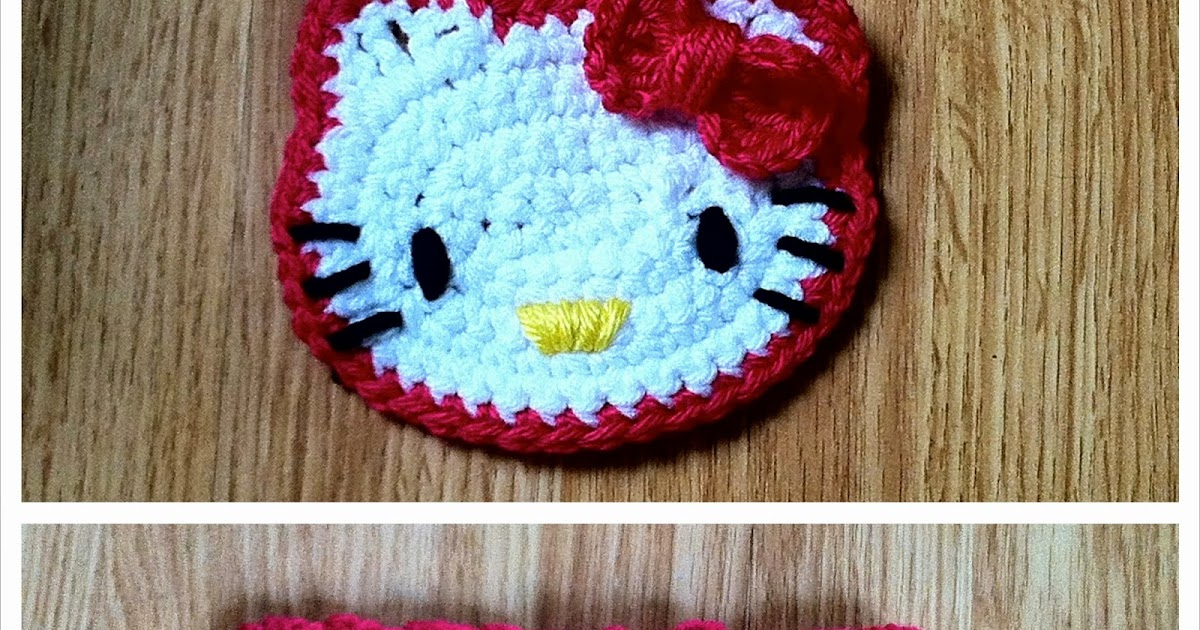 Hello kitty crochet headband the way i crochet