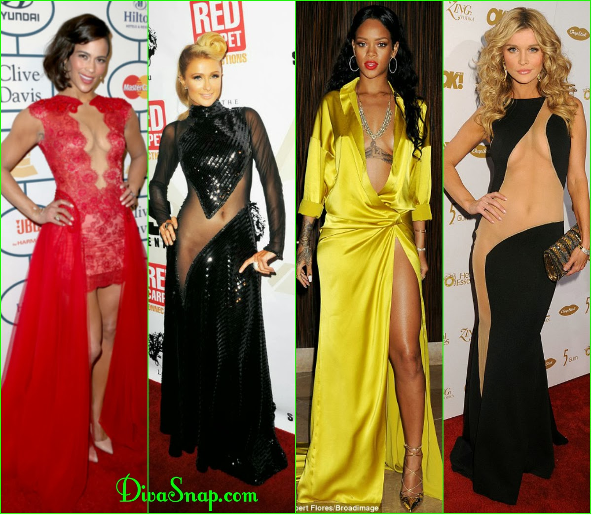 ALL THAT GRAMMY HOTNESS: PAULA PATTON, PARIS HILTON, RIHANNA & DAZZLE EYE-CATCHING LOOK - DivaSnap.com