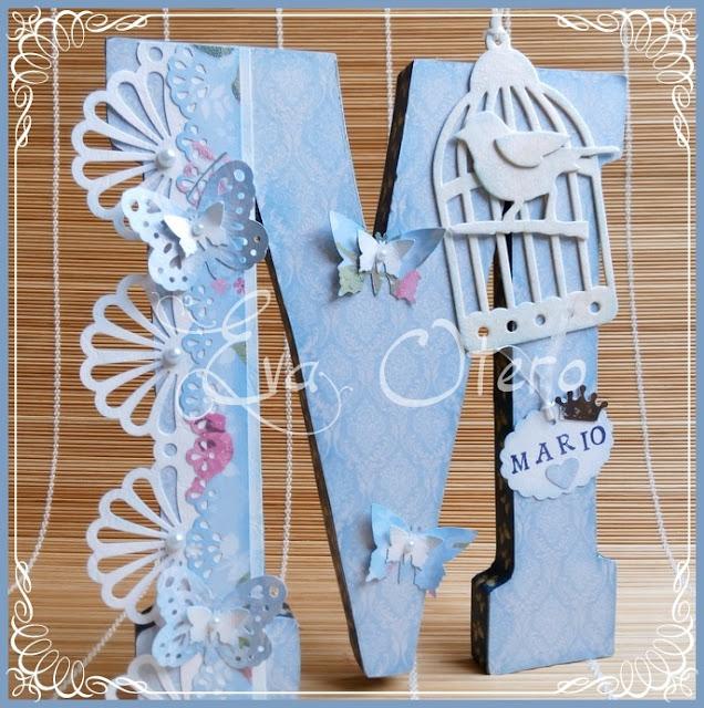 Siluetas infantiles eva otero letras decoradas con scrap - Letras decoradas scrap ...