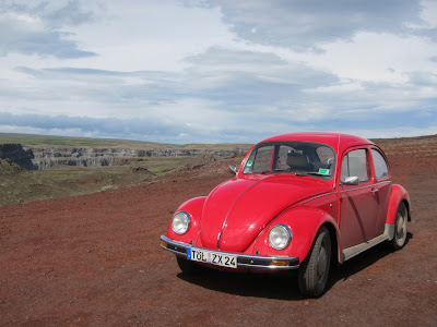 Red Beetle, drove from Germany, Iceland