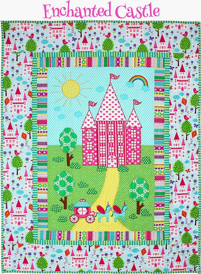http://www.michaelmillerfabrics.com/inspiration/freequiltpatterns/enchanted-castle-quilt.html
