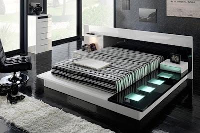 Decoración de Dormitorio en Negro