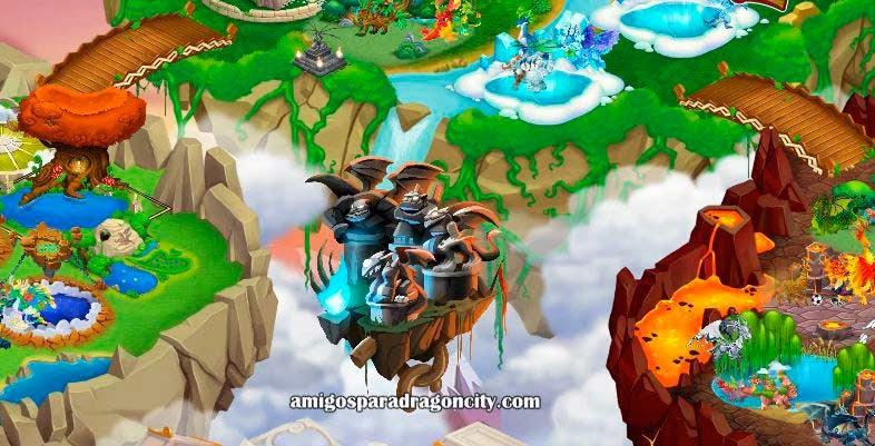 imagen de la isla titan de dragon city