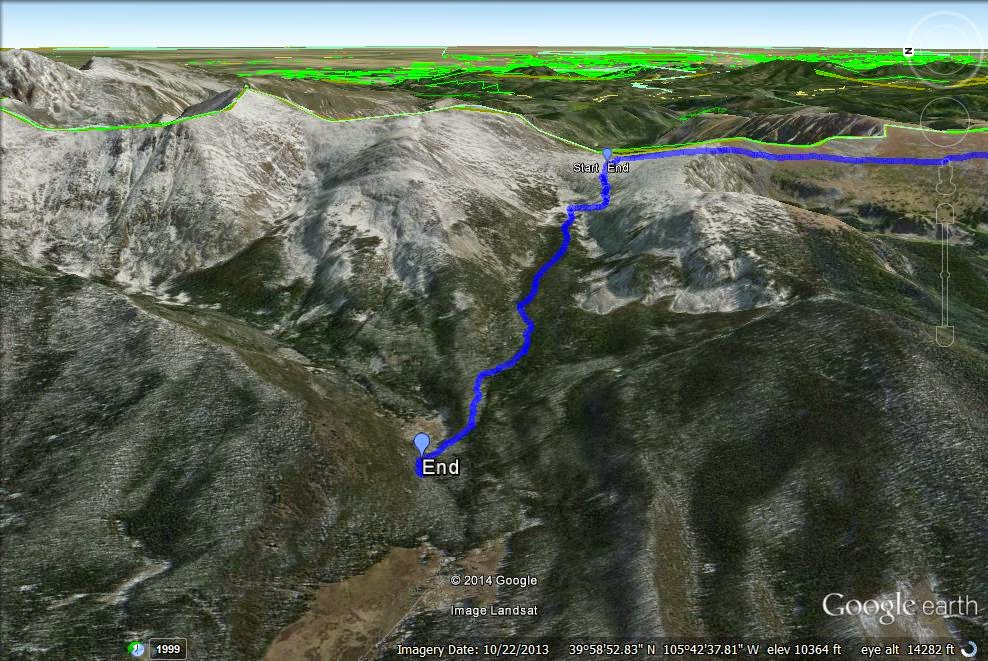 Go Hike Colorado: Devil's Thumb P, Indian Peaks Wilderness ... Devils Thumb Trail Map on