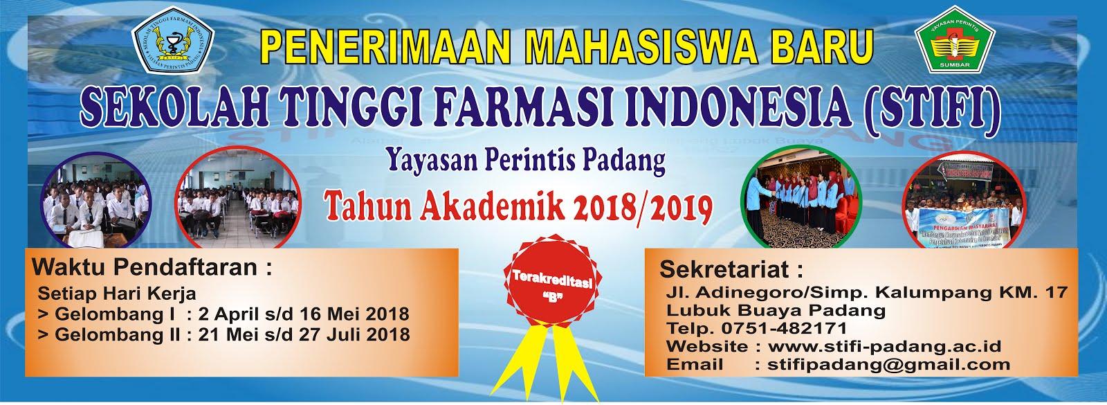 FORMULIR PENERIMAAN MAHASISWA BARU S1 FARMASI T.A 2018/2019