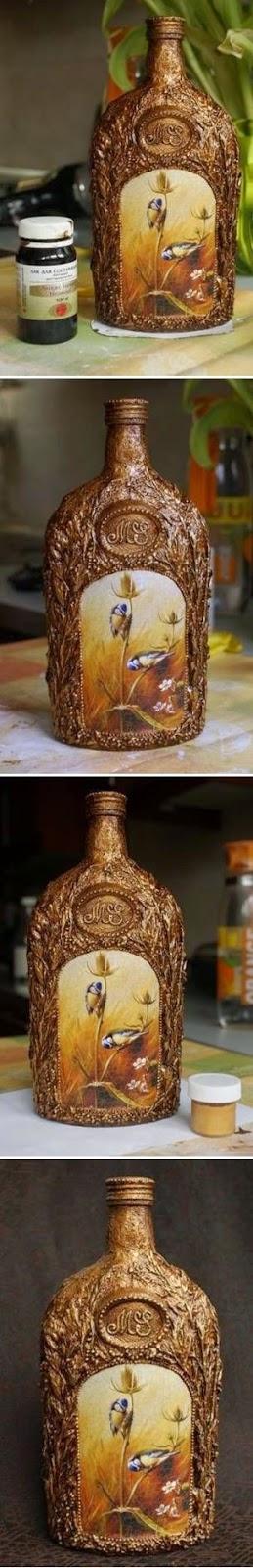 DIY zdobienie butelki