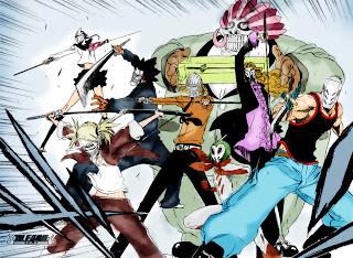 Bleach Vizards Mask Anime Sword HD Wallpaper Desktop Background