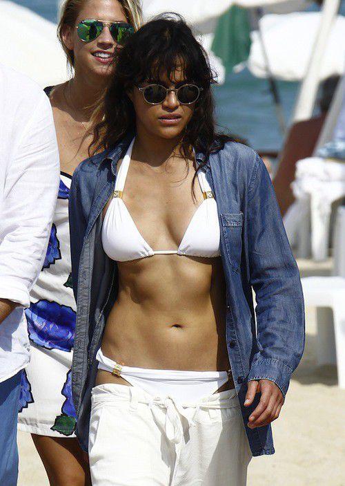Michelle Rodriguez good time in Saint-Tropez