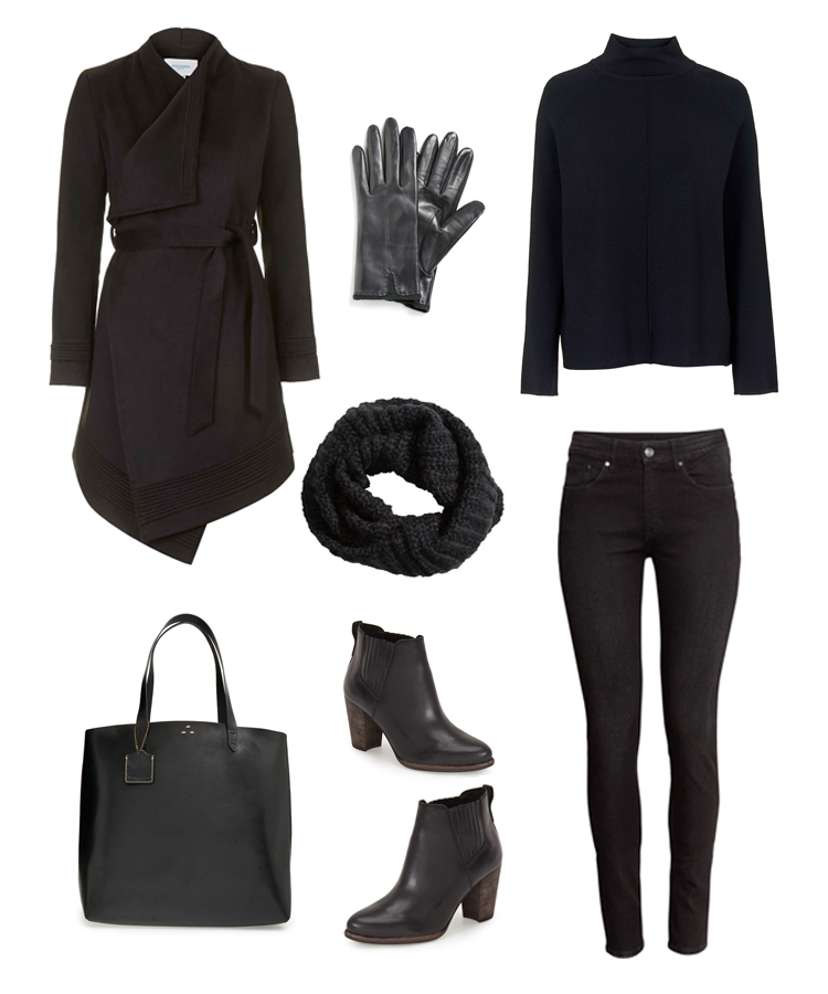 Travel Day Outfit: all black