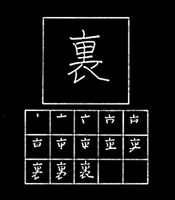 kanji belakang