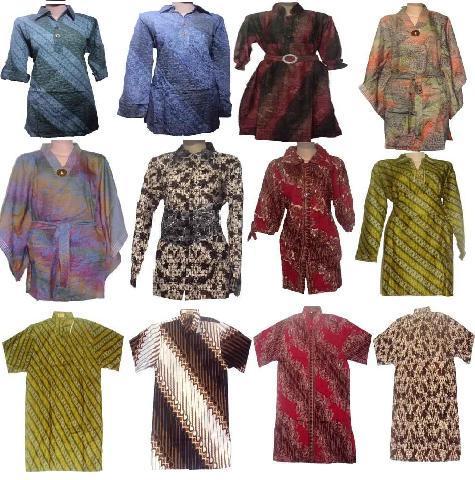 Contoh Gambar Model Busana Dan Kemeja Batik Modern
