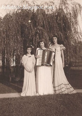 Beverly Slade Anderson with accordion