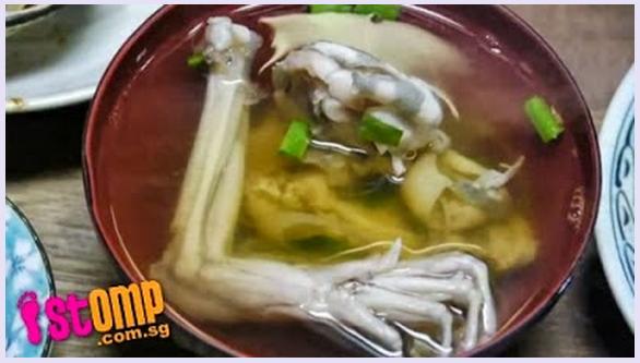 Makan Sup Katak Hidup di Restoran Jepun, Katak Baik Untuk Kesihatan !..