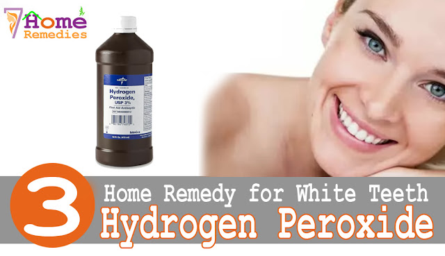 Hydrogen Peroxide found home helps teeth