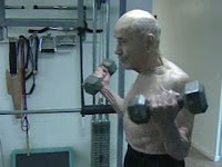 Inspirational video of Merrill Matzinger 98 year old man who workouts still. Great workout motivation.