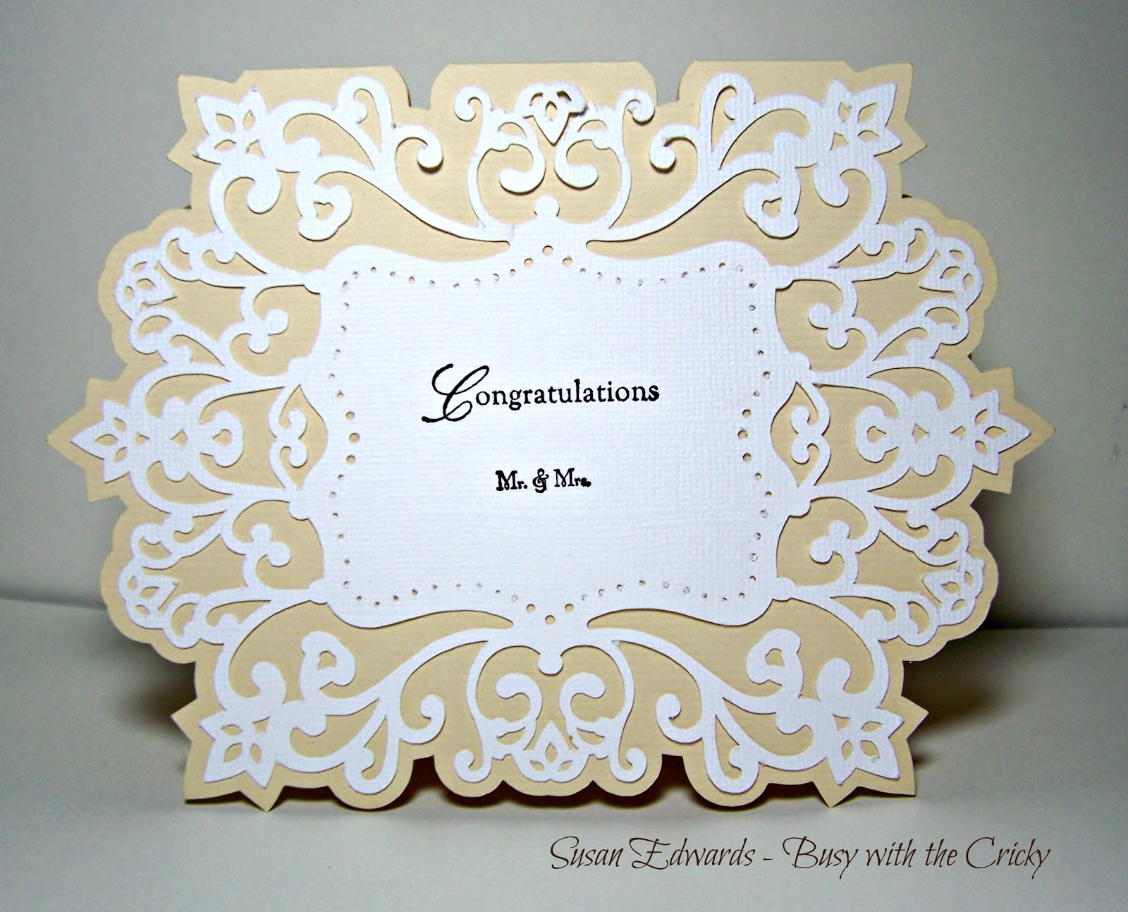 Busy with the Cricky: Wedding Card with Silhouette Cameo