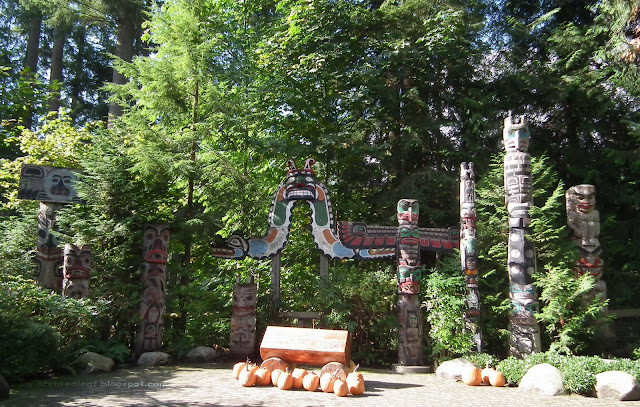 Totem Poles Park at Capilano Suspension Bridge