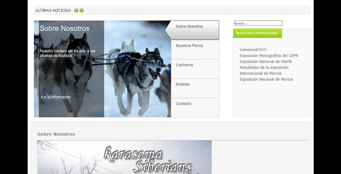 Portada Pagina Web Karasoma Siberians