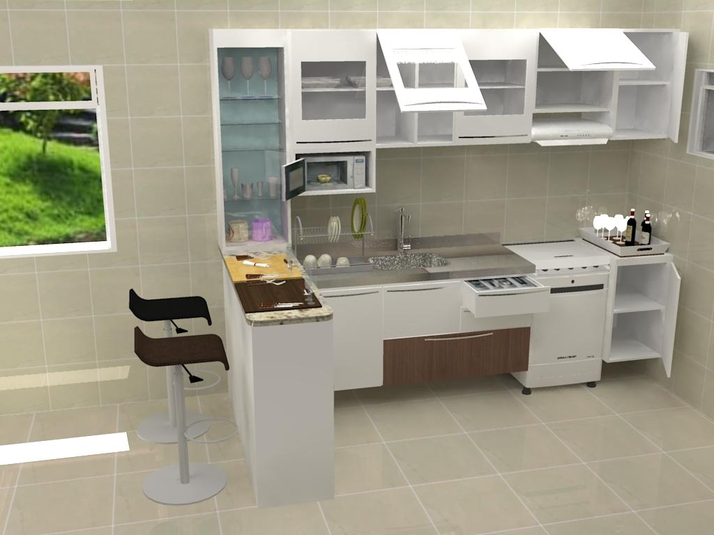 por: Juscelino Maciel: Proposta do Designer para Cozinha Americana #759C2F 1024 768