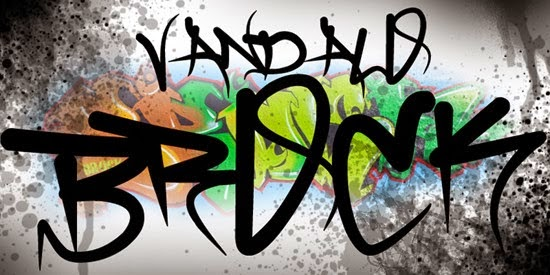 Free Graffiti Fonts - Brock Vandalo