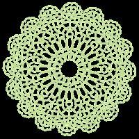 ドイリーのイラスト「緑」