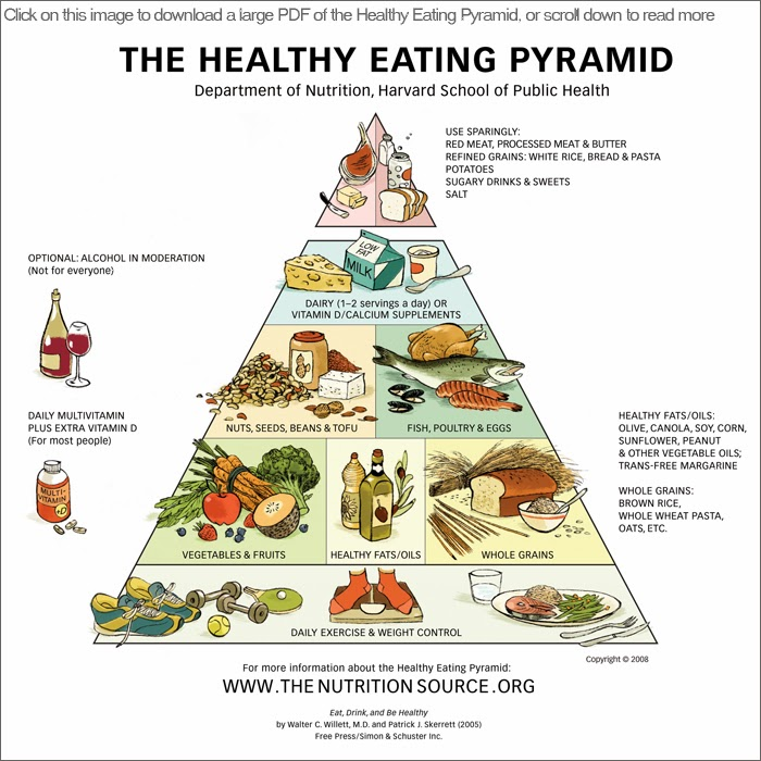 New food pyramid from Harvard School of Public Health