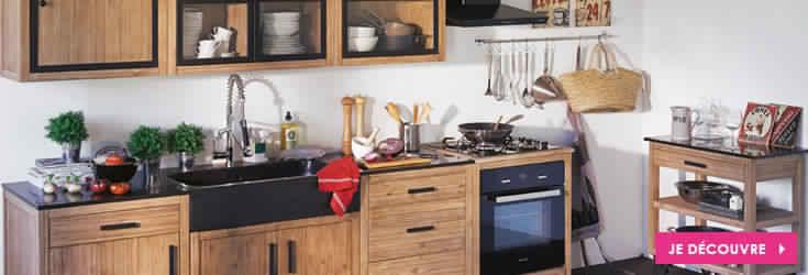 Meuble de cuisine en bois alinea  Meubles de cuisine