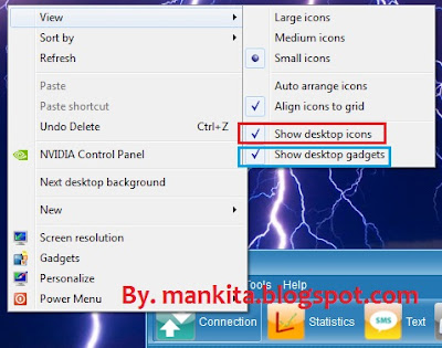 Hilangkan dan Tampilkan Icon Desktop Windows 8