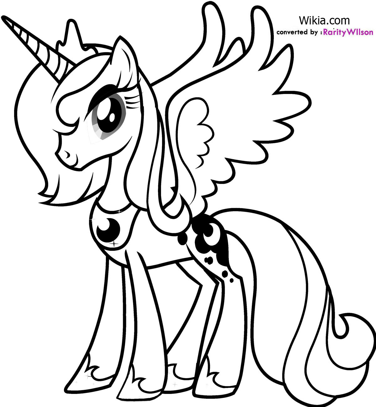 Coloriage My Littel Pony Princesse Luna