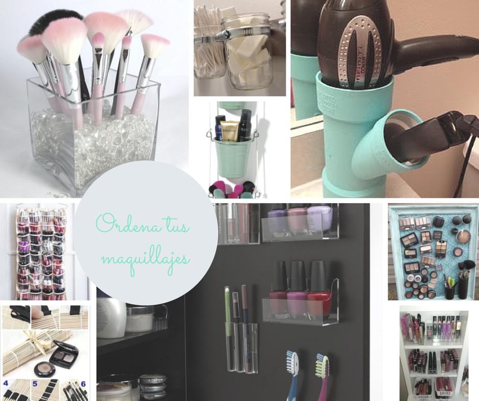 Hogar diez small low cost organizadores de maquillaje diy - Ideas para ordenar ...