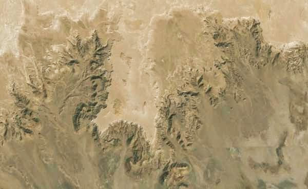 View on Mediterranean coast existed just after Great Flood, Sahara, Africa