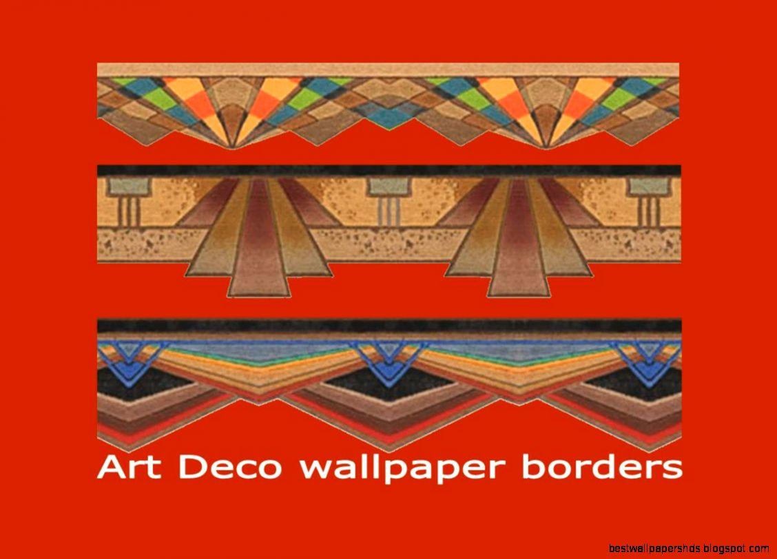 art deco wallpaper borders
