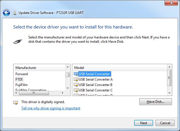 Update driver usb windows 7 pix.