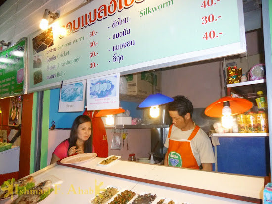 North Thailand - Stall selling bugs in Chiang Rai Night Market