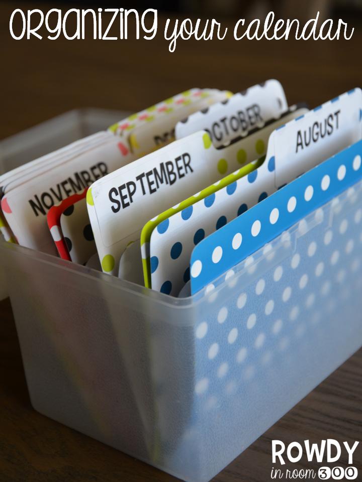 Calendar Organization : Calendar organization rowdy in room