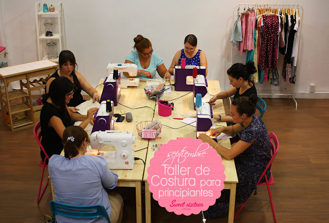 Taller COSTURA PARA PRINCIPIANTES Sweet sixteen craft store, Madrid