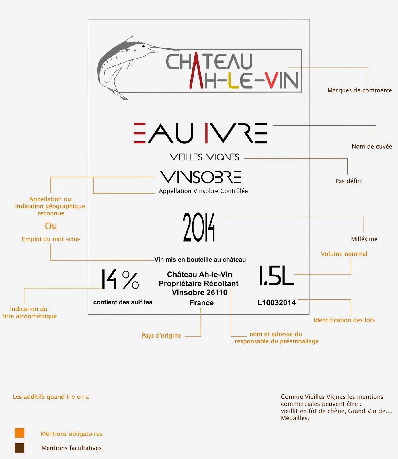 legislation etiquette vin de table