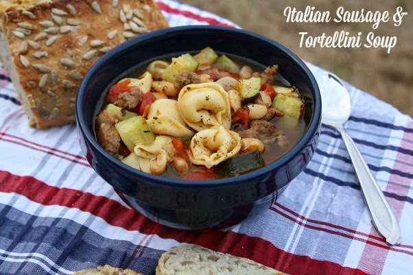 ... - Recipes From my Texas Kitchen: Italian Sausage & Tortellini Soup