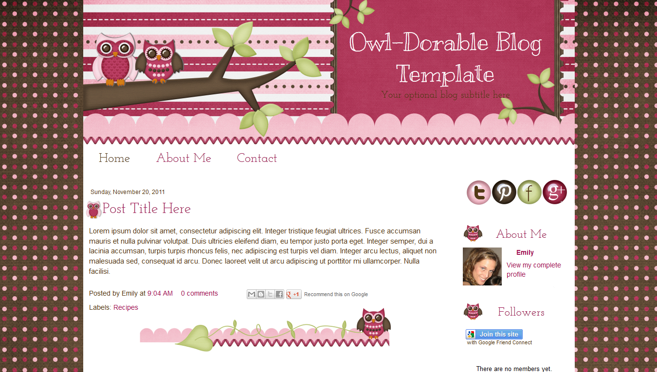 download template blogger cute pink