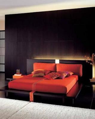 dormitorio negro y rojo