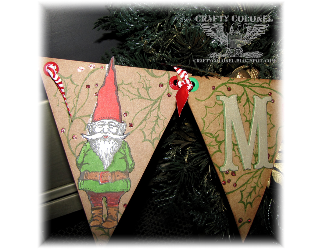 Club Scrap, Crafty Colonel, Gnome for the Holidays, Banner