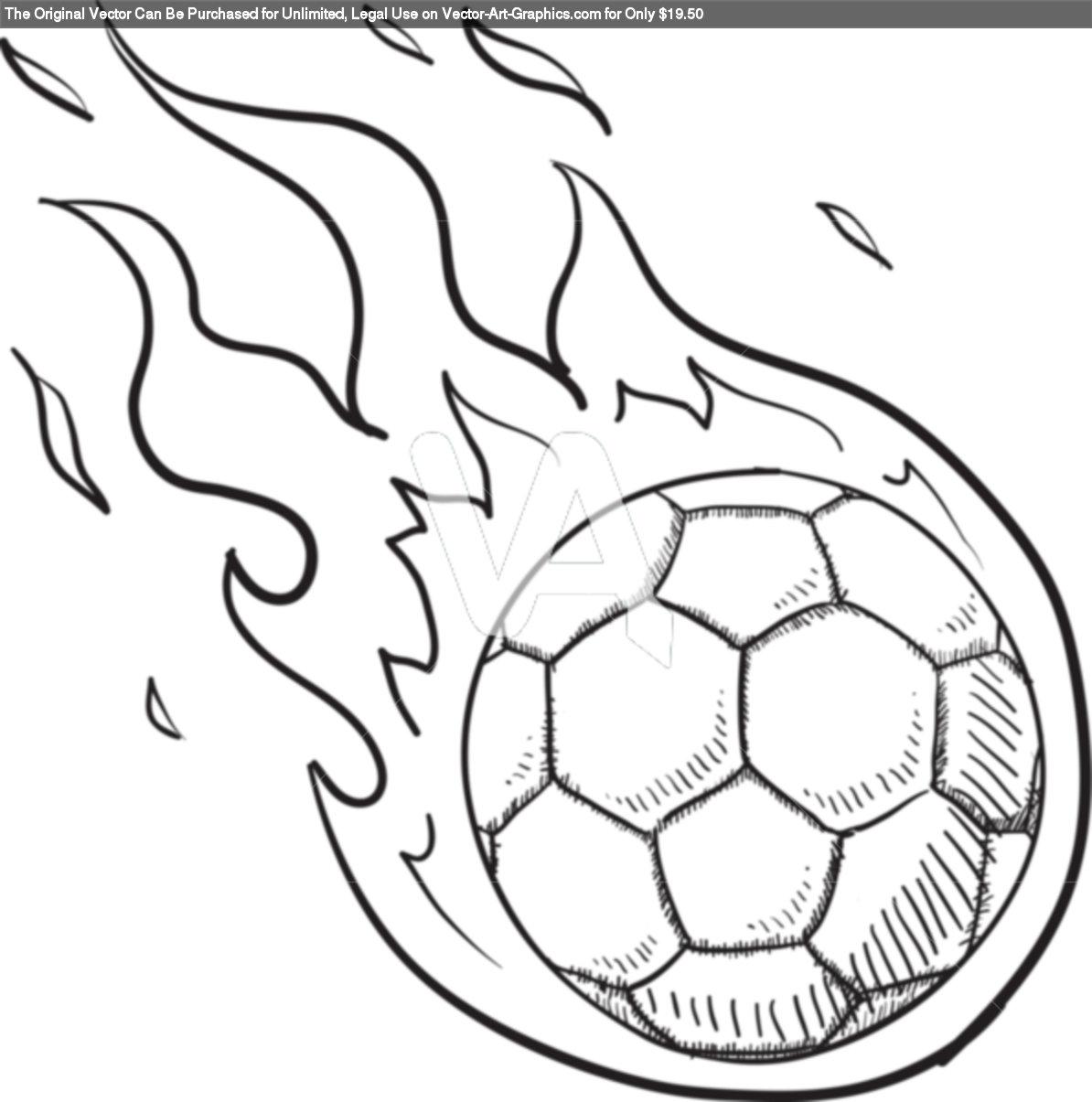 Elegante Dibujos De Balones De Futbol Para Colorear