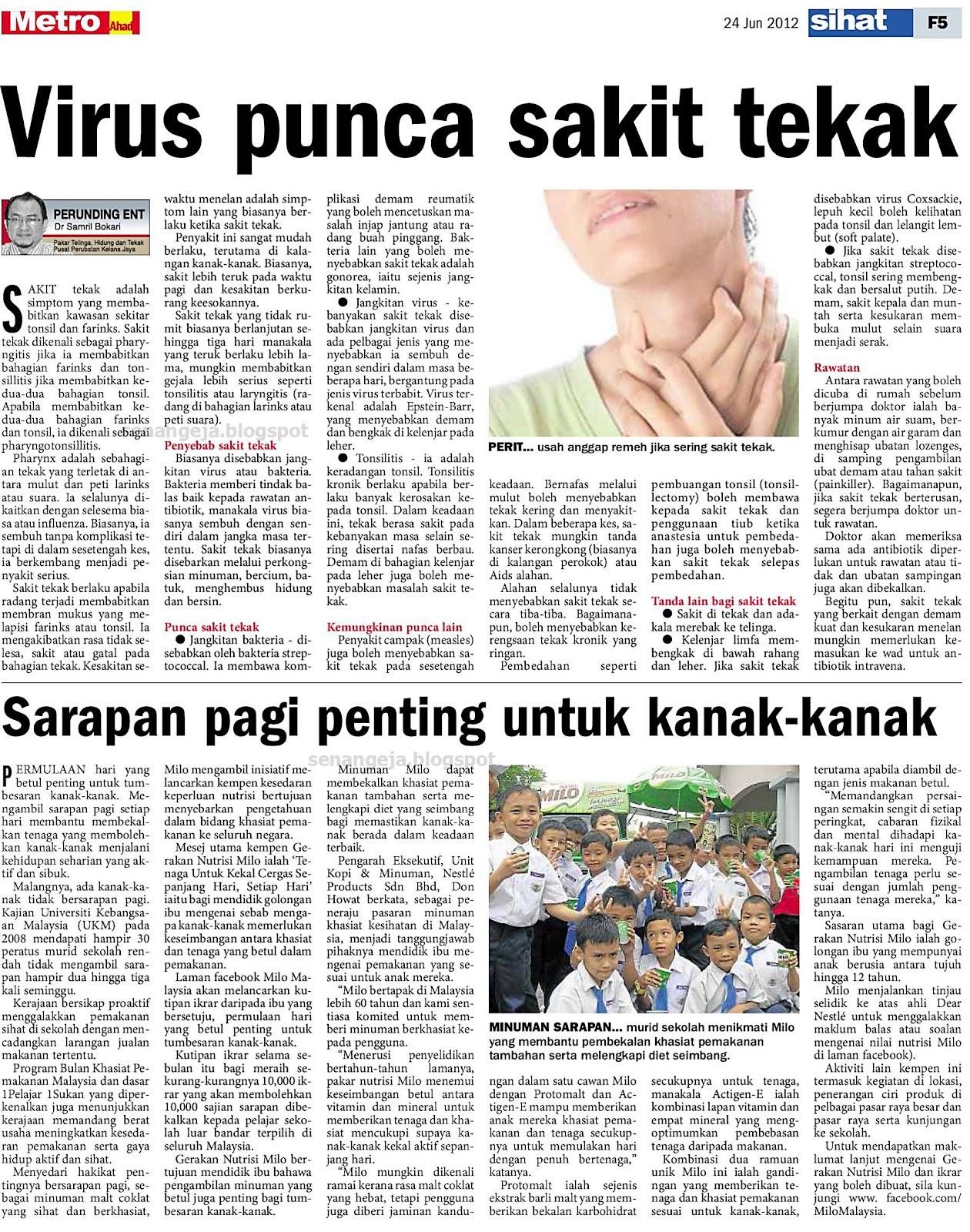 Virus punca sakit tekak