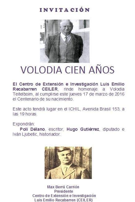 INVITACIÓN VOLODIA CIEN AÑOS