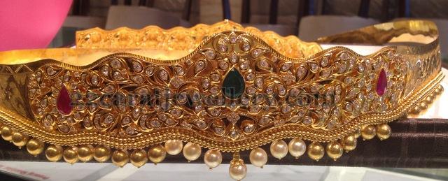 200 Grams Pachi Vaddanam Jewellery Designs