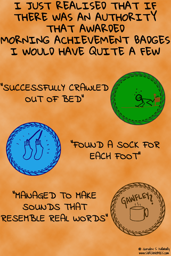 Morning Achievement badges