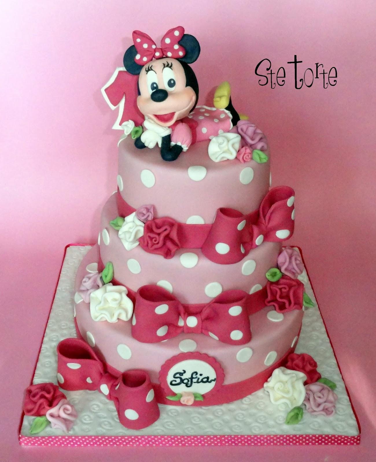Eccezionale Ste torte: Torta Minnie primo compleanno WO56