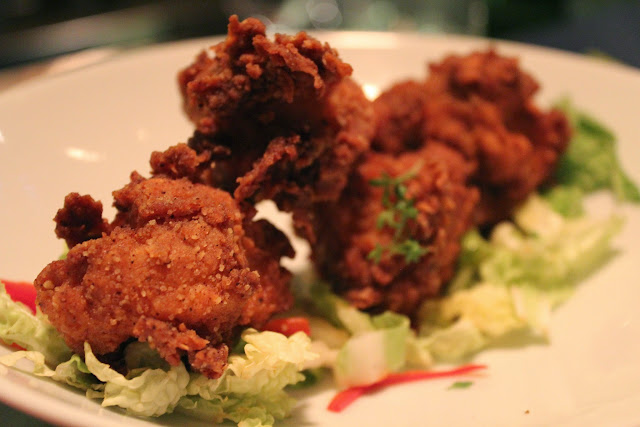 Fried chicken at Verjus Bar a Vins, Paris
