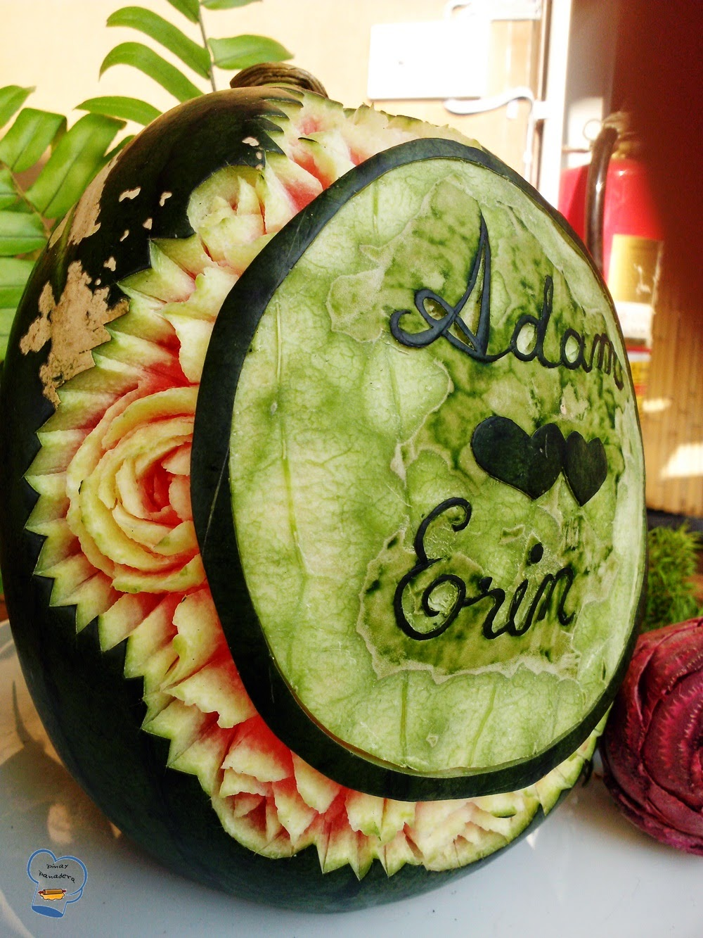 Pinay panadera s culinary adventures wedding fruit carving
